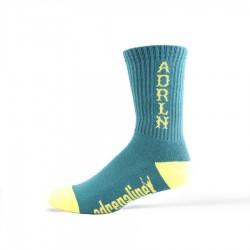 Adrenaline 2001 Mesh Top Socks Green w/ Yellow