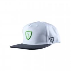 Adrenaline Rukus Classic Snapback Hat White w/ Green