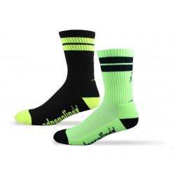 Adrenaline J-Train Electric Yellow Socks - 2 pack