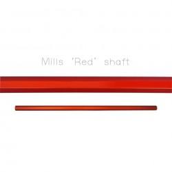"""Mills Lacrosse Rough Czerwony Shaft 30"""""""