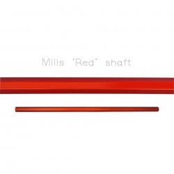 Mills Lacrosse Rough Red Shaft 30""