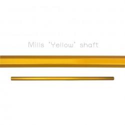 "Mills Lacrosse Rough Żółty Shaft 30"""