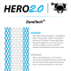 Hero2.0 Semi-Hard 10D Mesh White