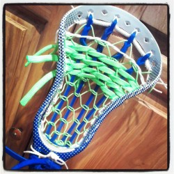 Traditional Pocket Lacrosse Stringing